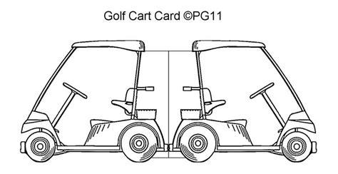 golf punch card template golf cart card template i made paper craft themed card