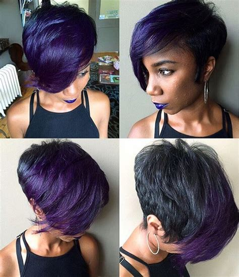 bomb hair cut bomb cut and color purple passion synggurl via
