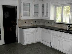 flooring kitchen dark cabinets