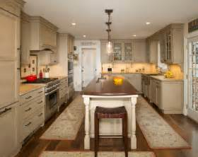 galley style kitchen with island in olney md traditional kitchen