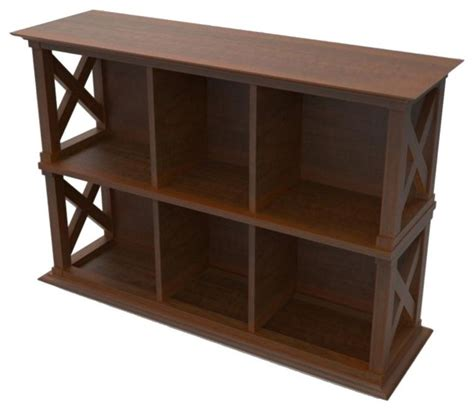 Console Table Bookcase the hton console table stackable bookcase cherry traditional bookcases by hayneedle