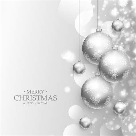 beautiful christmas balls decoration silver background   vector art stock