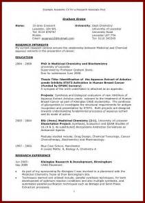 Academic Resume Template For Graduate School by How To Write Curriculum Vitae For Graduate School