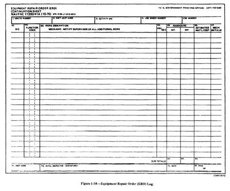 figure 1 10 equipment repair order ero log