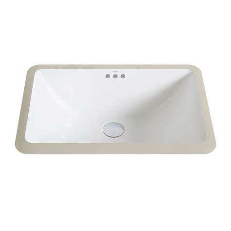 small rectangular undermount bathroom sink kraus elavo small rectangular ceramic undermount bathroom
