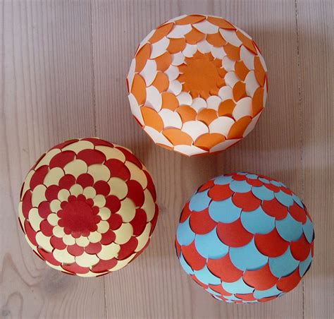paper sphere template sphere 002 ornaments cut paper and