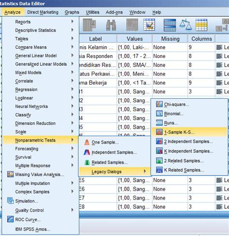 cara analisis uji normalitas menggunakan spss cara melakukan uji normalitas secara statistik uji