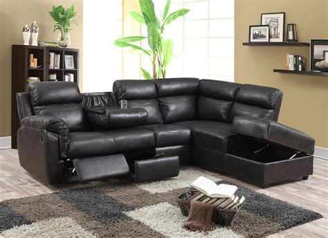 Leather Sectional Sofas With Recliners Paula Recliner Leather Sectional Furtado Furniture