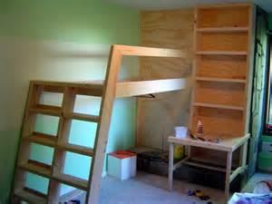 Diy Loft Bed With Desk Diy Loft Bed