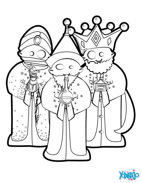 imagenes reyes magos para recortar dibujos para colorear los tres reyes magos es hellokids com