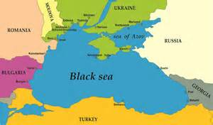Black Sea On World Map by Baspa