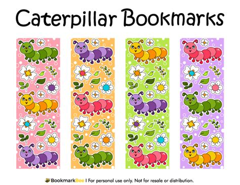 printable bookmarks pdf free printable caterpillar bookmarks download the pdf