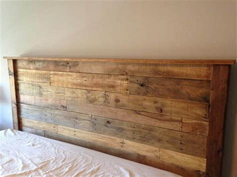 king size wood headboard diy king sized pallet wood headboard pallet furniture diy