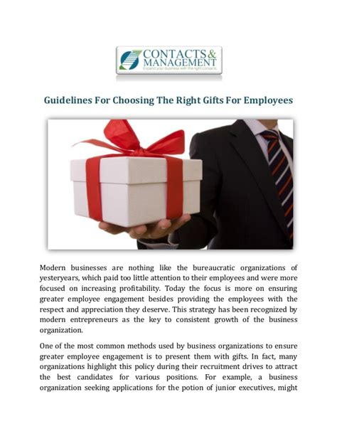guidelines on choosing gifts for her guidelines for choosing the right gifts for employees