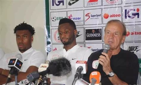 World Cup Nigeria Vs Iceland 2018 World Cup Eagles Gernot Rohr Speaks On