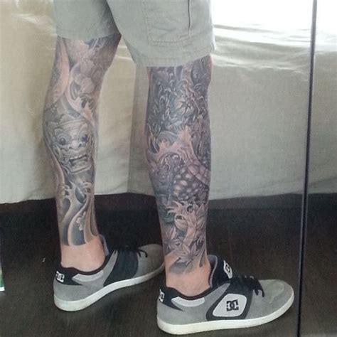 lower leg sleeve tattoo designs 27 leg sleeve designs ideas design trends