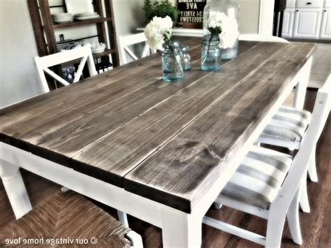 Dining Room Picnic Table distressed wood kitchen tables kitchen table gallery 2017