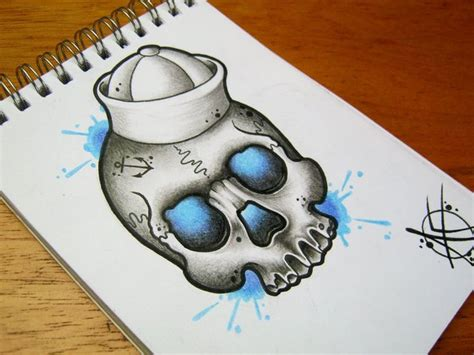 tattoo flash art skulls sailor skull flash design by frosttattoo flash art tattoo