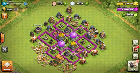 layout coc th 6 yang bagus farming base clash of clans th 6 design base clash of