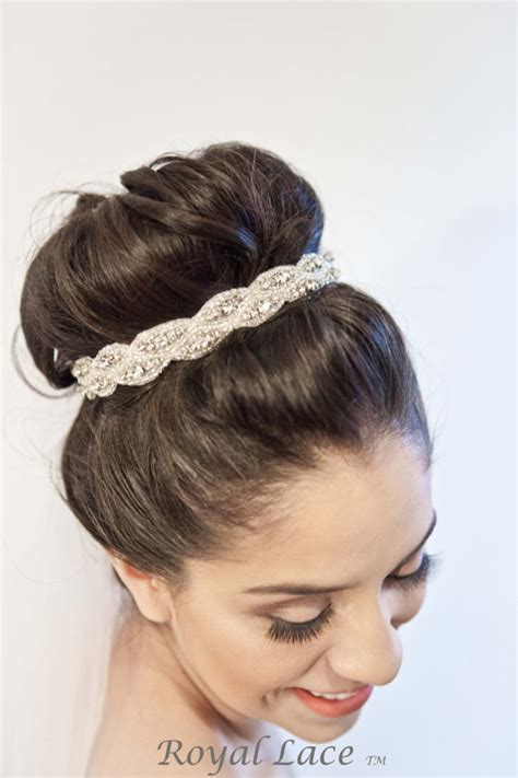 Wedding Hair Accessories Chagne by Wedding Headband Wedding Hair Accessory Crystals