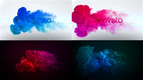 smoke after effects template color smoke logo reveal abstract after effects templates