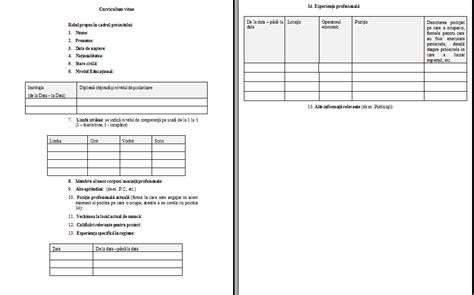 format cv romana simplu cv model romana simplu download image collections