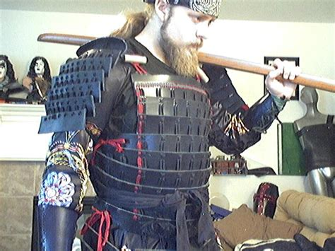 How To Make A Samurai Helmet Out Of Paper - leather samurai armor by tulloran on deviantart