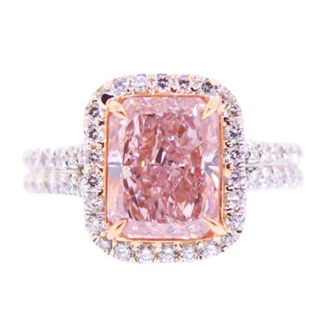 3 carat pink ring at 1stdibs
