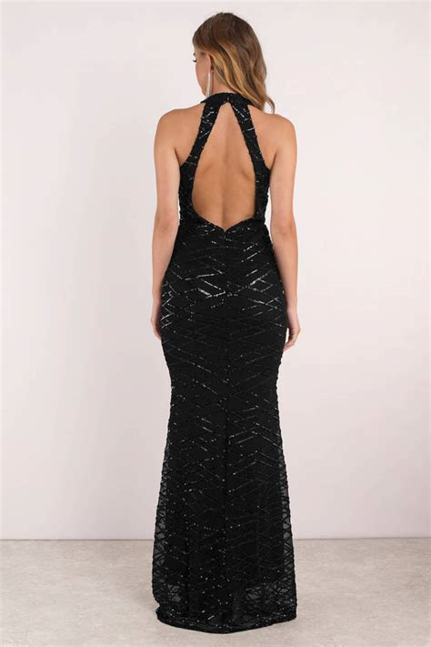 Dominiq Maxi black maxi dress beaded maxi dress black evening maxi