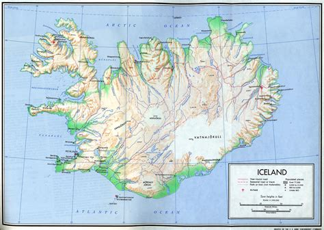 printable road map iceland large detailed relief map of iceland with roads and cities
