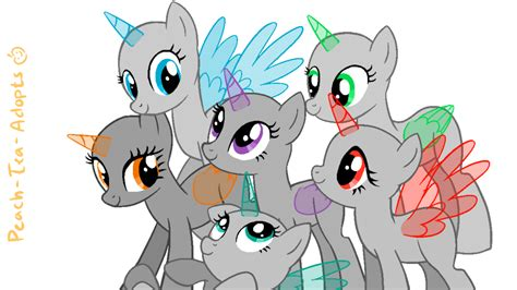 mlp pony base group three or more ponies on mylittleponies bases deviantart