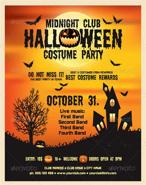 free psd flyer templates halloween crafts