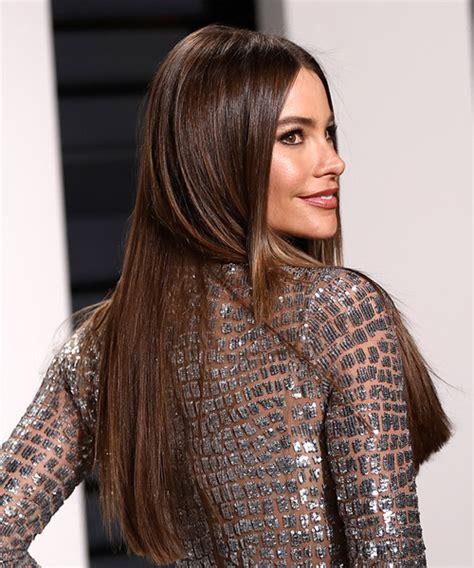sofia vergara hair color sofia vergara long straight formal hairstyle medium brunette