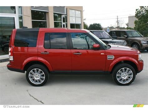 red land rover lr4 rimini red metallic 2010 land rover lr4 hse exterior photo