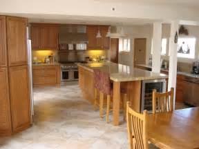 tiled floors with light oak cabinets solid oak cabinets