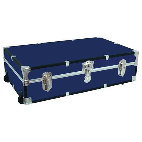bed trunk seward trunk under the bed footlocker blue storage trunk