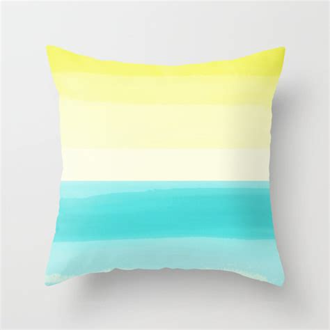Teal And Yellow Throw Pillows by Outdoor Throw Pillow Turquoise Aqua Teal Yellow By