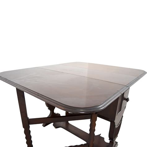 buy drop leaf table 90 1950 s drop leaf table with drawers tables