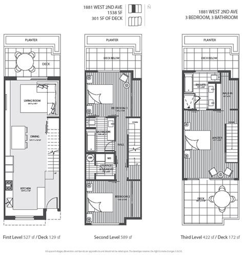 3 townhouse floor plans 3 level vancouver luxury home floor plan town house