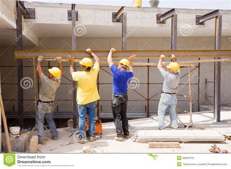image builders builders at work stock photos image 35691673