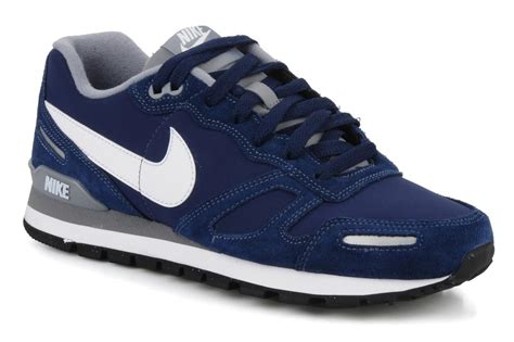 Nike Waffle Trainer nike air waffle trainer leather trainers in blue at sarenza co uk 75539