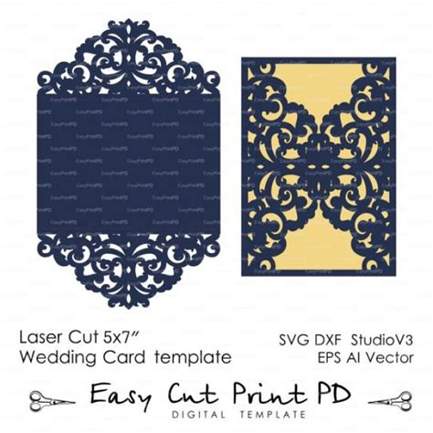 Necklace Card Template Pdf by Wedding Invitation Pattern Card Template Lace Folds