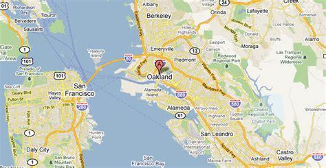 san jose to oakland map oakland san francisco map