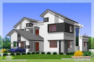 types of house designs 2912 sq feet 5 diffrent type house designs kerala house