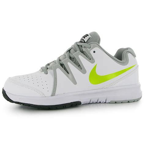 nike youth tennis shoes nike vapor court junior tennis shoes white green ebay