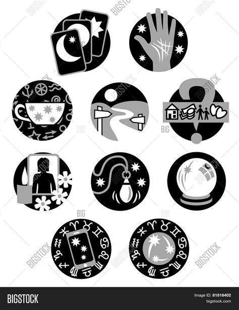 Psychic Fortune Teller Symbols Black Image - cg8p1818402c