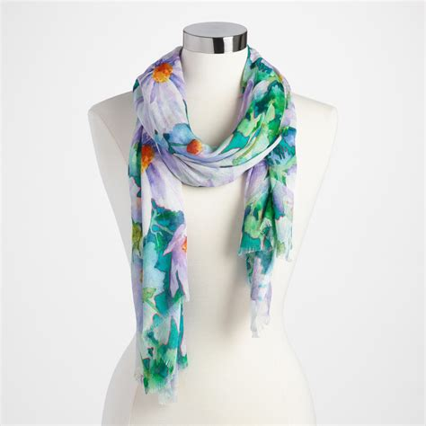 green floral scarf world market