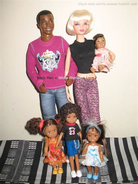 human doll family black ken type dolls with biracial children