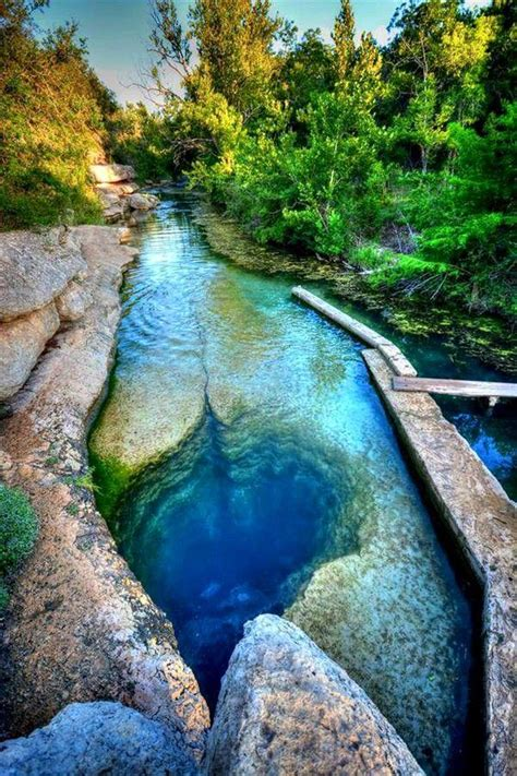best nature places in usa at around 120ft deep jacobs well is one of the deepest
