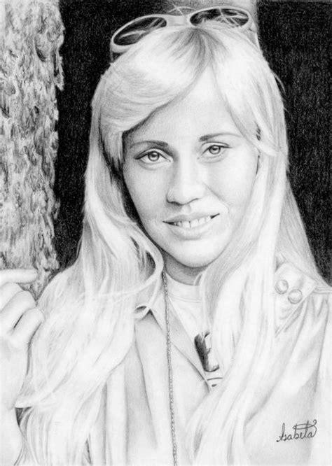 Portrait of Agnetha Fältskog by IsabelaColmenares on Stars